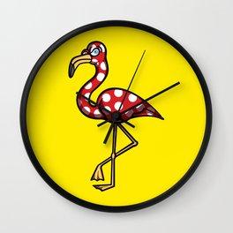 Flamingo Flamenco Wall Clock