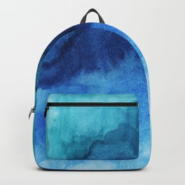Blue Life Watercolor Backpack