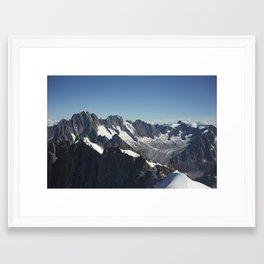 FRENCH ALPS Framed Art Print