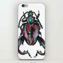 Purple Beetle iPhone Skin