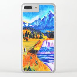 Orange Leaves attracted eyes Clear iPhone Case