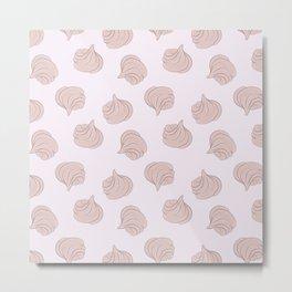 Meringues pattern Metal Print