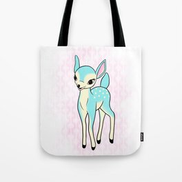 Kitsch turquoise deer Tote Bag