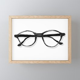 Bespectacled // Vintage Round Rayban Eye Glasses Fashion Sketch Framed Mini Art Print