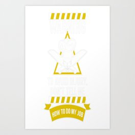 Avoid Injury, Im A Chef Art Print