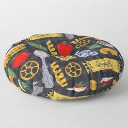 Vintage macaroni pattern Floor Pillow