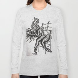 TRANSPARENCY- Black and White Long Sleeve T-shirt