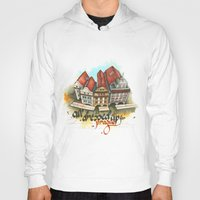 prague Hoodies featuring Prague by Hande Unver