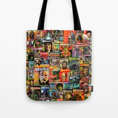 Monsters  |  Collage Tote Bag
