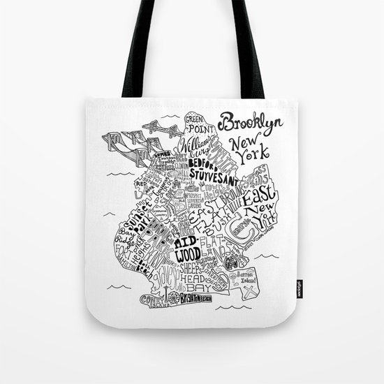 Brooklyn Map Tote Bag