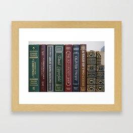 Dickens Books Framed Art Print