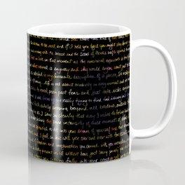 Marigold + Journal Writing Overlay Coffee Mug