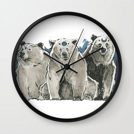The Bear Clan Wall Clock