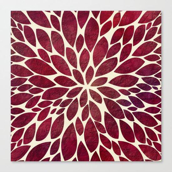 Petal Burst - Maroon Canvas Print