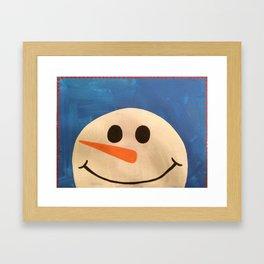 Snowman 1: Holly Jolly Framed Art Print