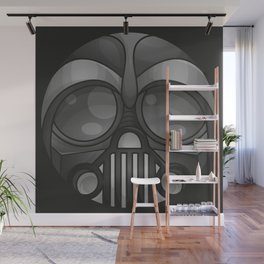 Rounded Vader Mask Wall Mural