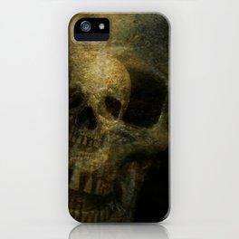 Double Exposure Skulls Photograph iPhone Case