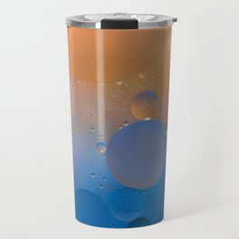 Oil and Water Abstract Travel Mug