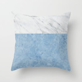 Porcelain blue and white marble Throw Pillow