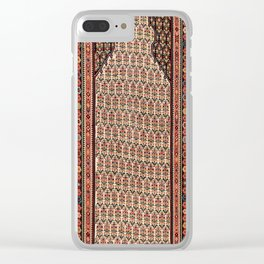 Sehna Kurdish North West Persian Antique Kilim Print Clear iPhone Case