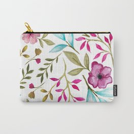 Watercolor Botanical Floral Leaves by Ms. Parasol Carry-All Pouch