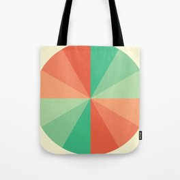 The Coral-Mint Wheel Tote Bag