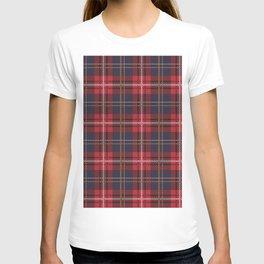 Red tartan plaid pattern T-shirt