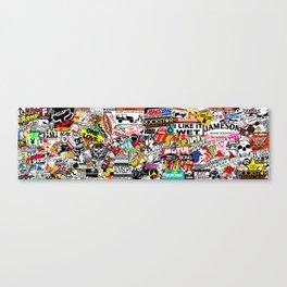 Sticker Bomb Canvas Print