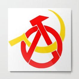 Anarcho-Communist Symbol Soviet USSRColors Metal Print