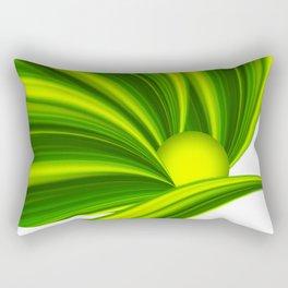 Abstract green 209 Rectangular Pillow