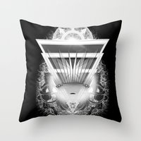 guardians Throw Pillows featuring Guardians by 5th Aeon