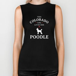 This Colorado Girl Loves Her Poodle Dog Biker Tank
