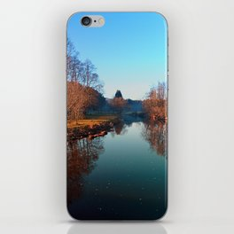 Winter mood on the river | waterscape photography iPhone Skin