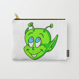 Extraterrestrial smiling child face Carry-All Pouch