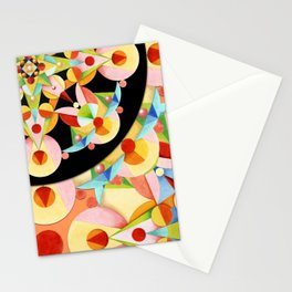 Groovy Carousel Pattern Stationery Cards