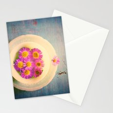 Spring Flowers on Vintage Table Stationery Cards