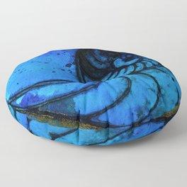 Nautilus Shell No. 987 by Kathy Morton Stanion Floor Pillow