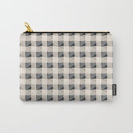ANTHOLOGY OF PATTERN SEVILLE GINGHAM BLACK Carry-All Pouch