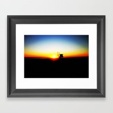 Solemn Goodbye Framed Art Print
