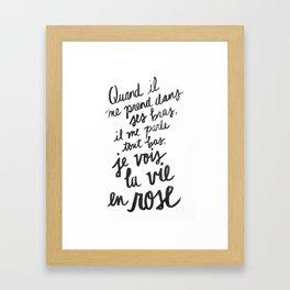 ...La vie en rose (lyrics) Framed Art Print