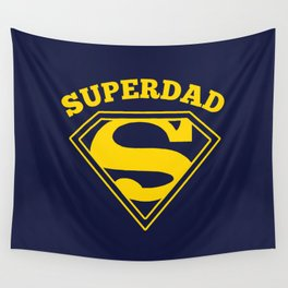 Superdad | Superhero Dad Gift Wall Tapestry