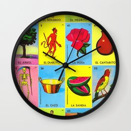 LOTERIA MEXICO Wall Clock