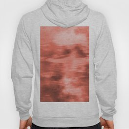 Pantone Living Coral Fusion Abstract Watercolor Blend Hoody