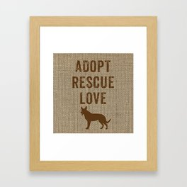 Adopt. Rescue. Love. Framed Art Print