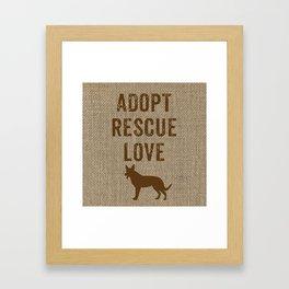 Adopt. Rescue. Love. Framed Art Print