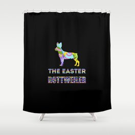 Rottweiler gifts   Easter gifts   Easter decorations   Easter Bunny   Spring decor Shower Curtain
