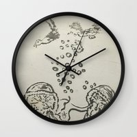 under the sea Wall Clocks featuring Under The Sea Sketch by ANoelleJay