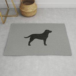 Black Labrador Retriever Silhouette Rug