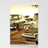 cuba Stationery Cards featuring Cuba cars by gabyjalbert