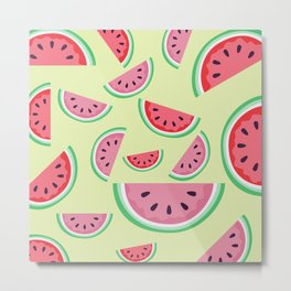 AFE Watermelon Pattern 3 Metal Print